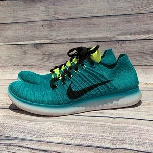Nike Free RN Flyknit Running Shoe Jade